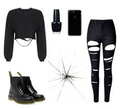 """""""Untitled #214"""" by kayla-2003 on Polyvore featuring OPI, WithChic and Dr. Martens"""