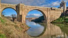 """Puente de Alcántara con el Tajo a sus Pies"""""""