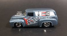 2010 Hot Wheels 1956 Ford Truck Champion Spark Plugs Grey Die Cast Toy Car Hot Rod Vehicle https://treasurevalleyantiques.com/products/2010-hot-wheels-1956-ford-truck-champion-spark-plugs-grey-die-cast-toy-car-hot-rod-vehicle #2000s #HotWheels #1950s #50s #Fifties #Ford #Trucks #Champion #SparkPlugs #Automotive #Parts #DieCast #Toys #Cars #Autos #Automobiles #Collectibles #Garage #Decor