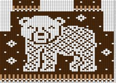Tricksy Knitter Charts: baby bear front (75614) (80242)