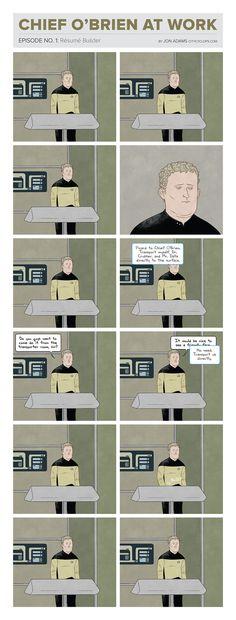 Hilarious comics prove O'Brien had the crappiest job on the Enterprise