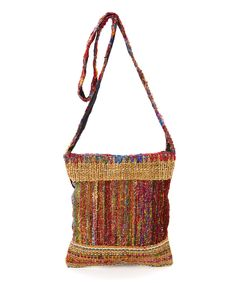 Look what I found on #zulily! Brown Loose Weave Solo Shoulder Bag by Leopards & Roses #zulilyfinds