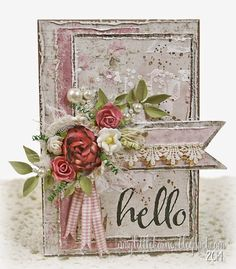 Today I'm taking a break from the bright and colorful cards I've been posting recently, and sharing a soft, muted, and shabby card. When I...