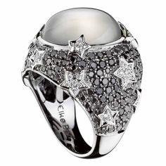 Diamond and moonstone ring by Elke Berr
