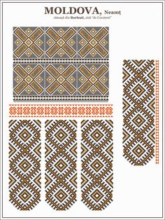 Folk Embroidery Tutorial Semne cusute: ie de Cucuteni Hungarian Embroidery, Learn Embroidery, Crewel Embroidery, Embroidery Patterns, Machine Embroidery, Cross Stitch Borders, Cross Stitch Patterns, Mochila Crochet, Moldova