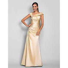 A-line Floor-length Taffeta Evening Dress (605470) – AUD $ 120.08