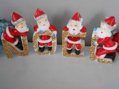 Vintage Christmas Noel Santa Candles Original Box. $18.00, via Etsy.