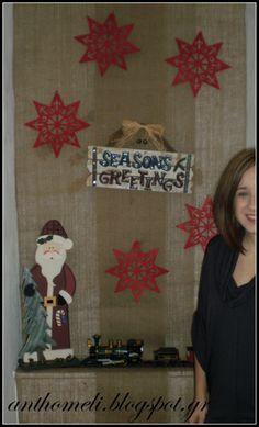 Ανθομέλι: Ιδέες για χριστουγεννιάτικη διακόσμηση εισόδου. Christmas Decoration Ideas on www.anthomeli.com