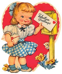 Free printable vintage valentine cards. Great for different vintage looking craft projects.