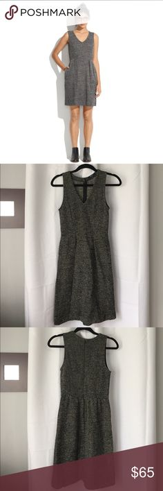 Madewell Terrace Dress Adorable tweed-like dress in excellent condition. Very minimal wear and pilling. Stretchy and very comfortable! Fits true to size. Has pockets. Madewell Dresses