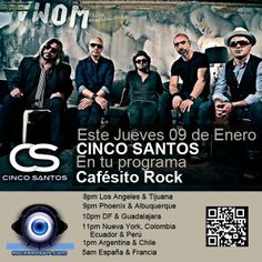 Enero 09 //January 9th  Entrevista // Interview  www.rockerosvip.com #live #great #cafesitorock #cincosantos