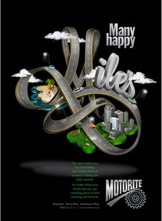 Many Happy Miles by Nikki Meier, via Behance