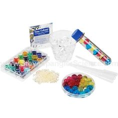 Jelly Marbles - Clear Spheres Kit..small beads that absorb 300 times their weight in water.