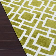 Microfiber Woven Harlow Peridot Rug (7'6 x 9'6) - Overstock™ Shopping - Great Deals on Alexander Home 7x9 - 10x14 Rugs