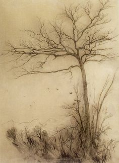 Aaron Draper Shattuck (1832–1928)   Title	 English: Birds Fly South--Conway Date	1856 Medium	ink and ink wash Current location	 Honolulu Mus...