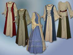 Maxikleider - Markt Kleid Leinen Mittelalter Gewand Farbenwunsch - ein Designerstück von Mittelalter-Schneiderei bei DaWanda