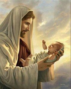 Jesus with Infant art by Simon Dewey