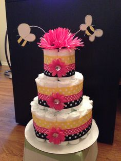 I made this for my cousins bumble bee themed baby shower!