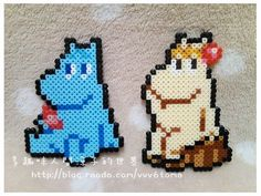 Moomin o Snorfröken Pearler Beads, Fuse Beads, Beads And Wire, Hama Beads Patterns, Beading Patterns, Beaded Cross Stitch, Cross Stitch Patterns, Pixel Beads, Pixel Pattern