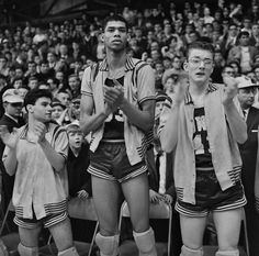 1965: A seven-foot, 17-year-old athlete, Ferdinand Lewis Alcindor Jr., stood with teammates at the championship game for Catholic high schools. A few years later, he changed his name to Kareem Abdul-Jabbar. Don Hogan Charles/The New York Times