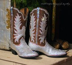 "Jacqi Bling's ""My Name in Lights"" Boots. Strut down the street or across any stage, when wearing these boots, all will know you're name!"