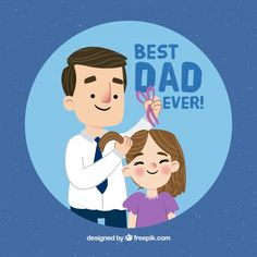 Lovely father scene background combing h. Happy Fathers Day Greetings, Happy Fathers Day Images, Father's Day Greetings, I Love My Father, Mom And Dad, Fathers Day Crafts, Fathers Day Shirts, Dad Quotes From Daughter, Loteria Cards