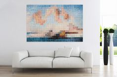 """Mosaic oil painting """"Cubic Nude"""""""