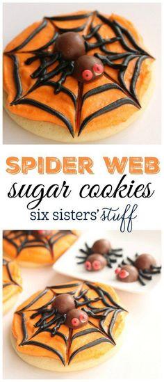 Spider Web Sugar Cookies 2