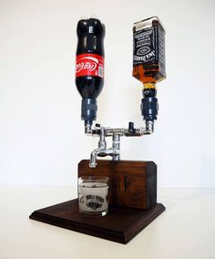 Handmade Wooden Liquor Dispenser Alcohol by SteamVintageWorks Handmade wooden alcohol dispenser Alcohol from SteamVintageWorks