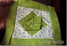 artemelza - flor de patchwork tutorial