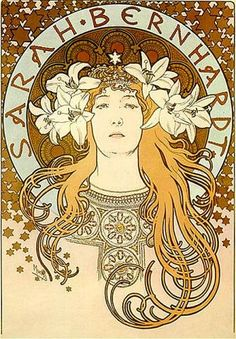 """Sarah Bernhardt"" by Alphonse Mucha  Hand-pulled lithographs are available for purchase from www.artandcointv.com. Contact us for available titles."