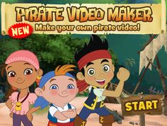 Jake and the Neverland Pirates - lots of printables and ideas on the Disney website