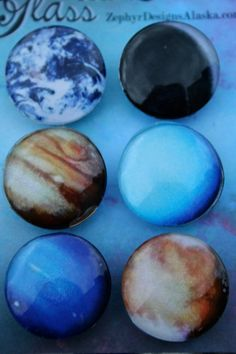 Glass Magnets  Planets by ZephyrDesignsAlaska on Etsy, $8.00