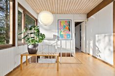 This 1960s architect-designed modernist property in Trollasen, Sweden, is so amazing I had to share it. It's for sale via fastighetsbyran. Built in 1961, it's retained some lovely detai…