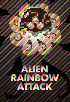 flyer design, alien rainbow attack.  #CtrlAltDesign