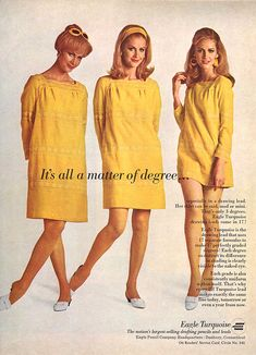 this dress is cute in any of these lengths 60s And 70s Fashion, Teen Fashion, Retro Fashion, Fashion Models, Vintage Fashion, 1960s Outfits, Modern Outfits, Twist And Shout, 20th Century Fashion