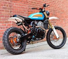 Spencer from has been working his magic again. This time using a Suzuki TS as inspiration for his latest build.… Spencer from has been working his magic again. This time using a Suzuki TS as inspiration for his latest build. Honda Scrambler, Xt 600 Scrambler, Motocross Enduro, Enduro Motorcycle, Scrambler Motorcycle, Motorcycle Style, Motorcycle Touring, Women Motorcycle, Motorcycle Quotes