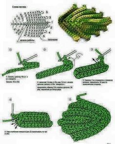 Best 12 Crochet Flower Patterns Part 1 – Beautiful Crochet Patterns and Knitting Patterns – SkillOfKing. Appliques Au Crochet, Crochet Leaf Patterns, Crochet Leaves, Crochet Designs, Crochet Flowers, Knitting Patterns, Freeform Crochet, Crochet Diagram, Irish Crochet