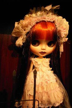 Honey Drops Blythe - love her tattered white dress