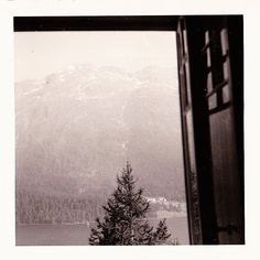 Vintage 60s St. Moritz Switzerland B&W Photo Snapshot Mountain Lake Scene