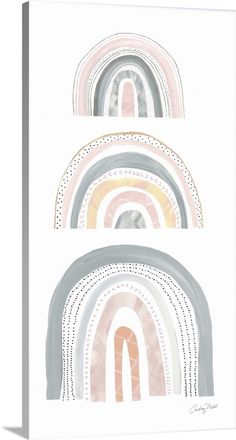 Boho Rainbow V Gallery-Wrapped Canvas