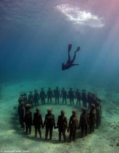 The world's most giant underwater museum at Cancun underwater museum Mexico