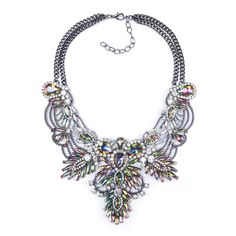Big Necklace Women 2015 ZA Maxi Necklace Pendants Collier Femme Boho Fashion Choker Collar Female Crystal Statement Accessories