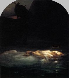 Delaroche, Paul - A Christian Martyr Drowned in the Tiber During the Reign of Diocletian - 1855 - The Young Martyr - Wikipedia