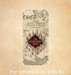 Harry Potter Marauder's Map iPhone 4 caseMarauder Map by GiftDream, $6.99