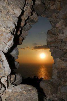 Monolithos Castle at the West coast of Rhodes -  Greece