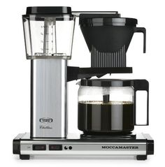 Technivorm-Moccamaster KBG 741 10-Cup Coffee Brewer with Glass Carafe, Polished Silver - http://teacoffeestore.com/technivorm-moccamaster-kbg-741-10-cup-coffee-brewer-with-glass-carafe-polished-silver/