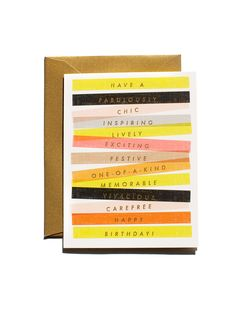Birthday Sentiment Card / Garance Doré