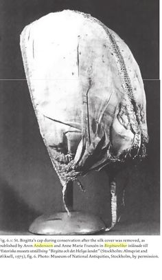 A picture of the actual St. Birgitta's cap  by C. Dahl