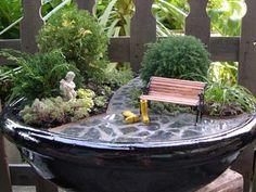 formal fairy garden